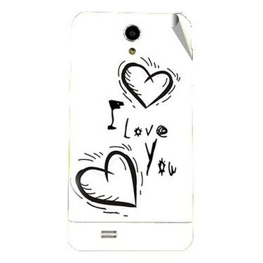 Snooky 47716 Digital Print Mobile Skin Sticker For Xolo Q900 - White