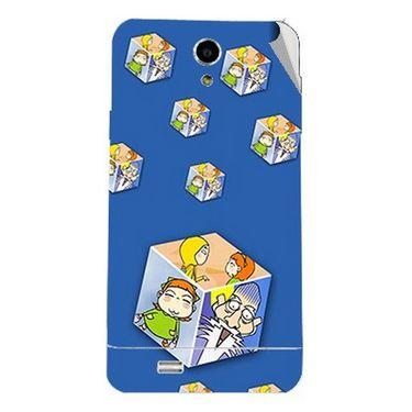 Snooky 47727 Digital Print Mobile Skin Sticker For Xolo Q900 - Blue