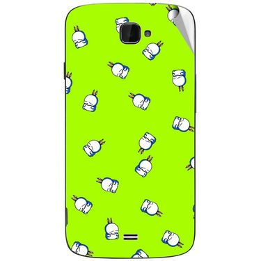 Snooky 47809 Digital Print Mobile Skin Sticker For Xolo Q1000 Opus - Green