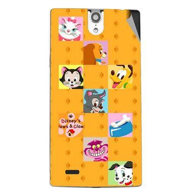 Snooky 47839 Digital Print Mobile Skin Sticker For Xolo Q1010i - Yellow