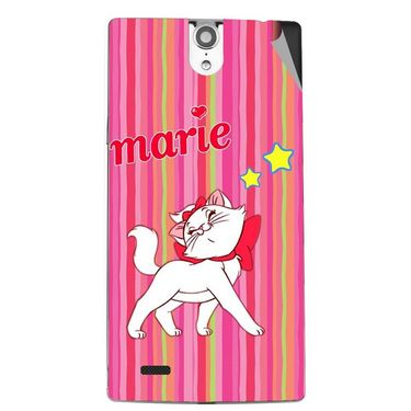 Snooky 47840 Digital Print Mobile Skin Sticker For Xolo Q1010i - Pink
