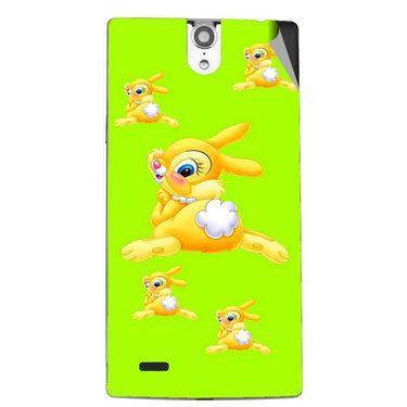 Snooky 47842 Digital Print Mobile Skin Sticker For Xolo Q1010i - Green