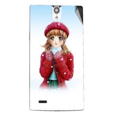 Snooky 47851 Digital Print Mobile Skin Sticker For Xolo Q1010i - White