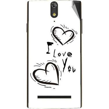 Snooky 47876 Digital Print Mobile Skin Sticker For Xolo Q1020 - White