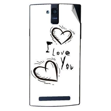 Snooky 47908 Digital Print Mobile Skin Sticker For Xolo Q2000 - White