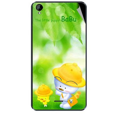 Snooky 47929 Digital Print Mobile Skin Sticker For Xolo Q2000L - Green