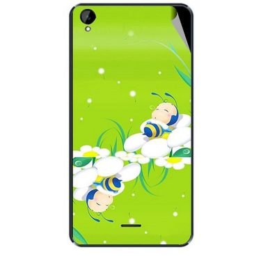 Snooky 47930 Digital Print Mobile Skin Sticker For Xolo Q2000L - Green