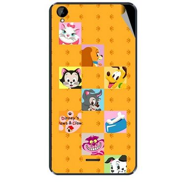 Snooky 47935 Digital Print Mobile Skin Sticker For Xolo Q2000L - Yellow