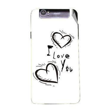 Snooky 47972 Digital Print Mobile Skin Sticker For Xolo Q3000 - White