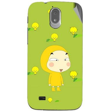 Snooky 47988 Digital Print Mobile Skin Sticker For Xolo Play T1000 - Green