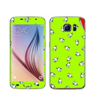 Snooky 48224 Digital Print Mobile Skin Sticker For Samsung Galaxy S6 - Green