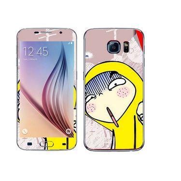 Snooky 48239 Digital Print Mobile Skin Sticker For Samsung Galaxy S6 - Multicolour
