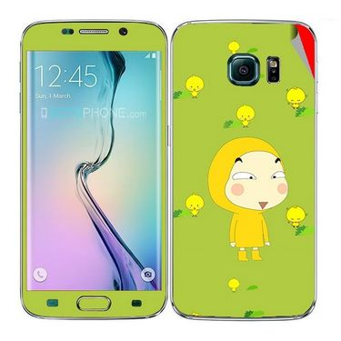 Snooky 48243 Digital Print Mobile Skin Sticker For Samsung Galaxy S6 Edge - Green