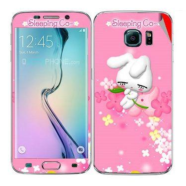 Snooky 48247 Digital Print Mobile Skin Sticker For Samsung Galaxy S6 Edge - Pink