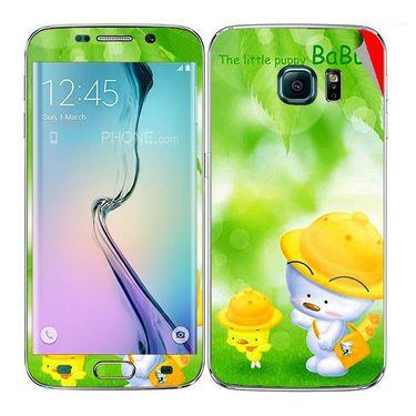 Snooky 48248 Digital Print Mobile Skin Sticker For Samsung Galaxy S6 Edge - Green