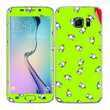 Snooky 48256 Digital Print Mobile Skin Sticker For Samsung Galaxy S6 Edge - Green