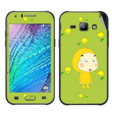 Snooky 48307 Digital Print Mobile Skin Sticker For Samsung Galaxy J1 - Green