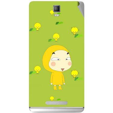 Snooky 48339 Digital Print Mobile Skin Sticker For Lava Iris Fuel 50 - Green