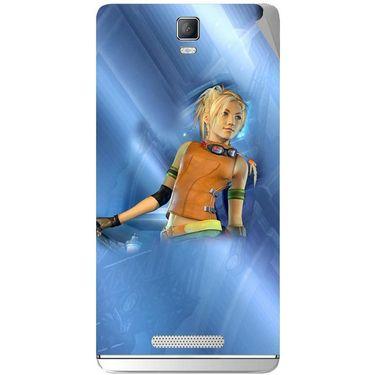 Snooky 48346 Digital Print Mobile Skin Sticker For Lava Iris Fuel 50 - Blue