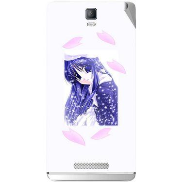 Snooky 48365 Digital Print Mobile Skin Sticker For Lava Iris Fuel 50 - White