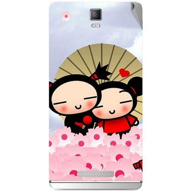 Snooky 48370 Digital Print Mobile Skin Sticker For Lava Iris Fuel 50 - Multicolour