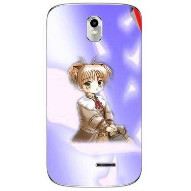 Snooky 48396 Digital Print Mobile Skin Sticker For Lava Iris 402 Plus - Purple