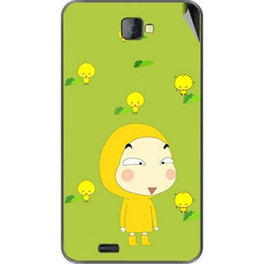 Snooky 48467 Digital Print Mobile Skin Sticker For Lava Iris 502 - Green