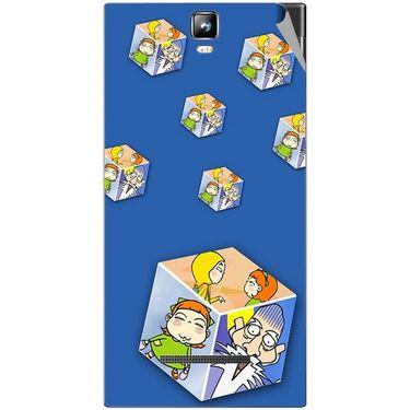 Snooky 48558 Digital Print Mobile Skin Sticker For Lava Iris 504Q Plus - Blue