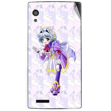 Snooky 48585 Digital Print Mobile Skin Sticker For Lava Iris Fuel 60 - Purple