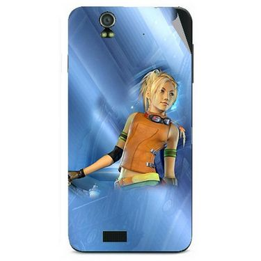 Snooky 48602 Digital Print Mobile Skin Sticker For Lava Iris selfie 50 - Blue