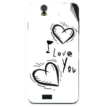 Snooky 48611 Digital Print Mobile Skin Sticker For Lava Iris selfie 50 - White