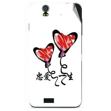 Snooky 48612 Digital Print Mobile Skin Sticker For Lava Iris selfie 50 - White
