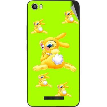 Snooky 48641 Digital Print Mobile Skin Sticker For Lava Iris X8 - Green