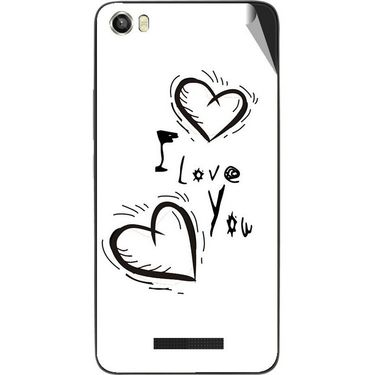 Snooky 48643 Digital Print Mobile Skin Sticker For Lava Iris X8 - White