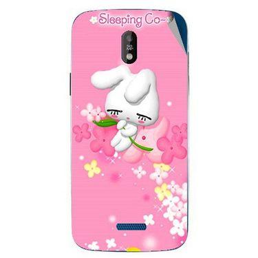 Snooky 48663 Digital Print Mobile Skin Sticker For Lava Iris 450 - Pink
