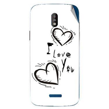 Snooky 48675 Digital Print Mobile Skin Sticker For Lava Iris 450 - White
