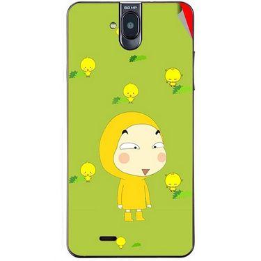 Snooky 48691 Digital Print Mobile Skin Sticker For Lava Iris 550Q - Green