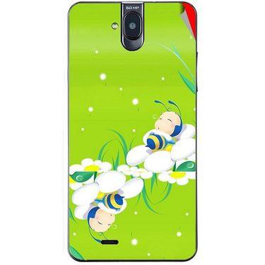 Snooky 48697 Digital Print Mobile Skin Sticker For Lava Iris 550Q - Green