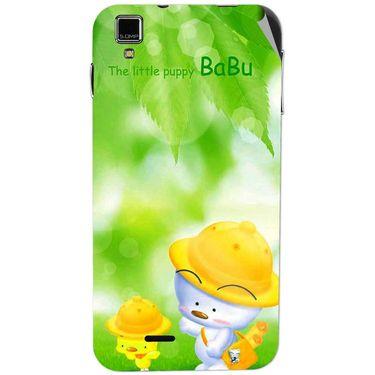 Snooky 48728 Digital Print Mobile Skin Sticker For Lava Iris 405 Plus - Green