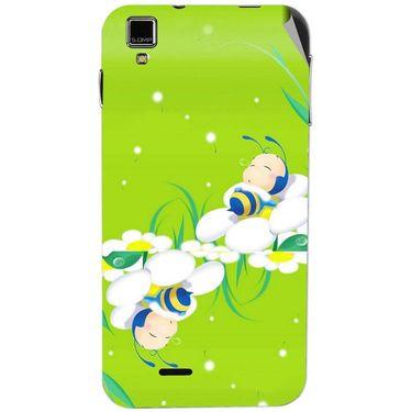 Snooky 48729 Digital Print Mobile Skin Sticker For Lava Iris 405 Plus - Green