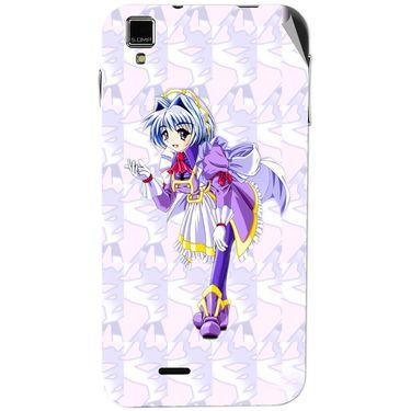 Snooky 48745 Digital Print Mobile Skin Sticker For Lava Iris 405 Plus - Purple