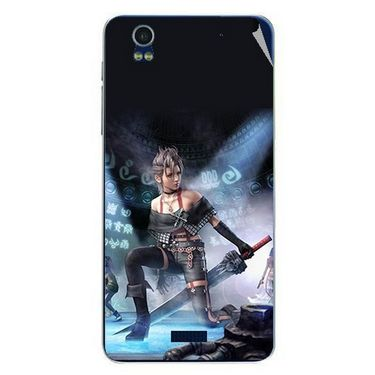 Snooky 48763 Digital Print Mobile Skin Sticker For Lava Iris Pro 20 - Blue