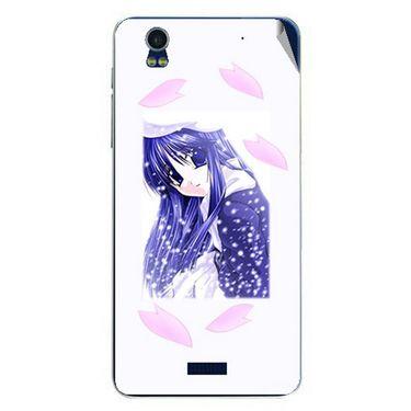Snooky 48781 Digital Print Mobile Skin Sticker For Lava Iris Pro 20 - White