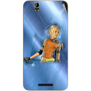 Snooky 48794 Digital Print Mobile Skin Sticker For Lava Iris X1 - Blue
