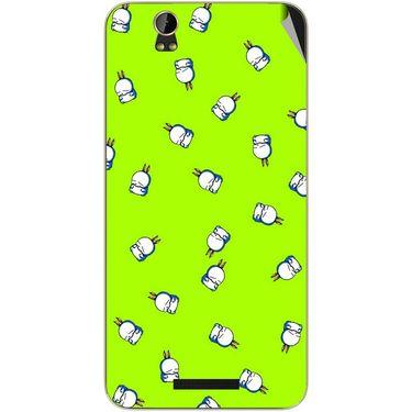 Snooky 48800 Digital Print Mobile Skin Sticker For Lava Iris X1 - Green
