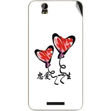 Snooky 48804 Digital Print Mobile Skin Sticker For Lava Iris X1 - White