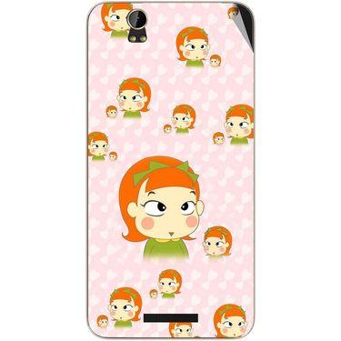 Snooky 48817 Digital Print Mobile Skin Sticker For Lava Iris X1 - Orange