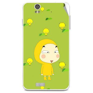 Snooky 48819 Digital Print Mobile Skin Sticker For Lava Iris X5 - Green
