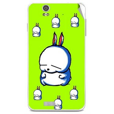 Snooky 48828 Digital Print Mobile Skin Sticker For Lava Iris X5 - Green