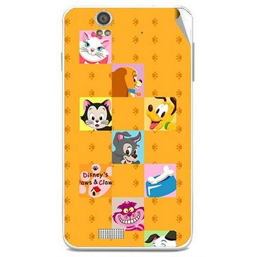 Snooky 48830 Digital Print Mobile Skin Sticker For Lava Iris X5 - Yellow